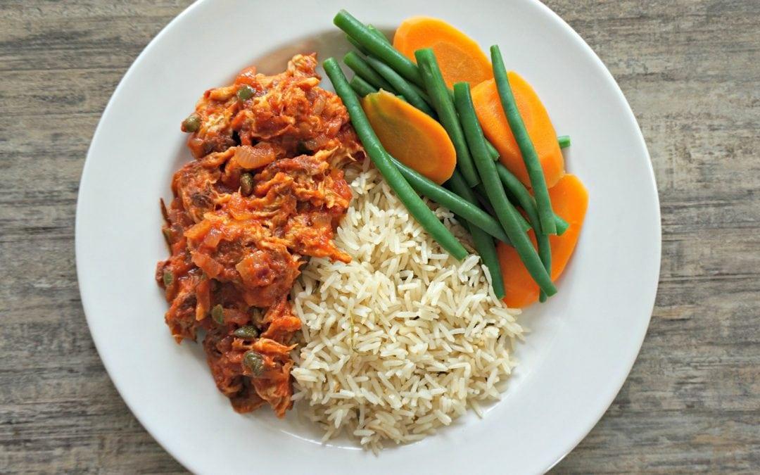 Ropa Vieja with Paradis Vegetarien Vegan Chicken