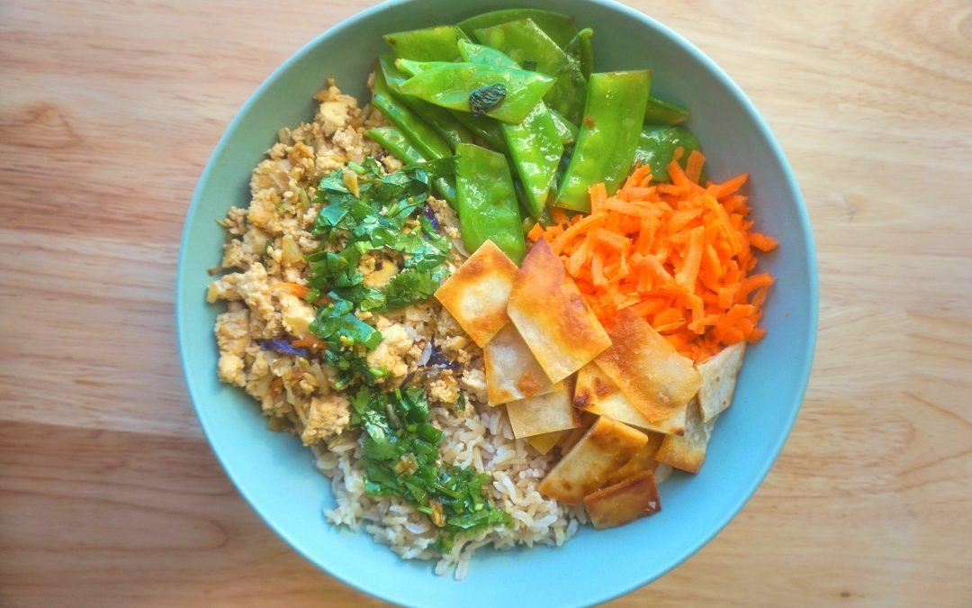Tofu & Cabbage Spring Roll Bowl