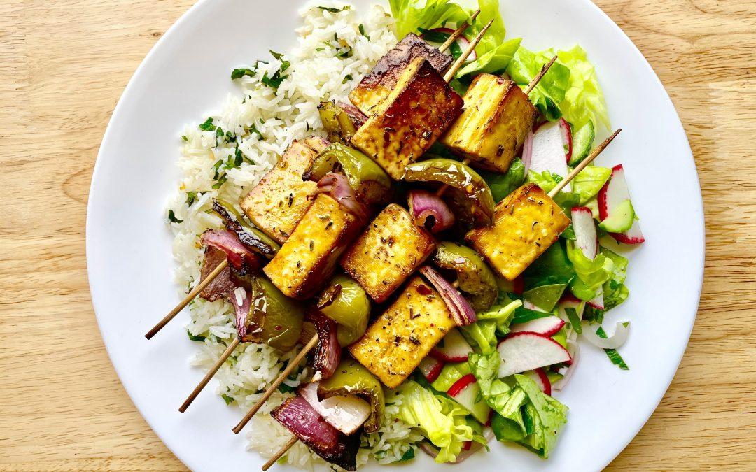 Caribbean Tofu Skewers